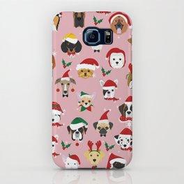 Christmas Dog Pattern Illustration iPhone Case