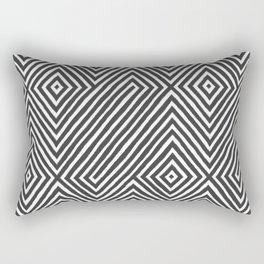 diamond stripe art Rectangular Pillow