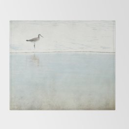 Reflecting Sandpiper Throw Blanket
