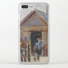 Railway Junction near Bois-Colombes Clear iPhone Case