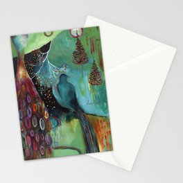 """Light Trio"" Original Painting by Flora Bowley Stationery Cards"