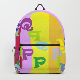 Mind Your P's and Q's Backpack