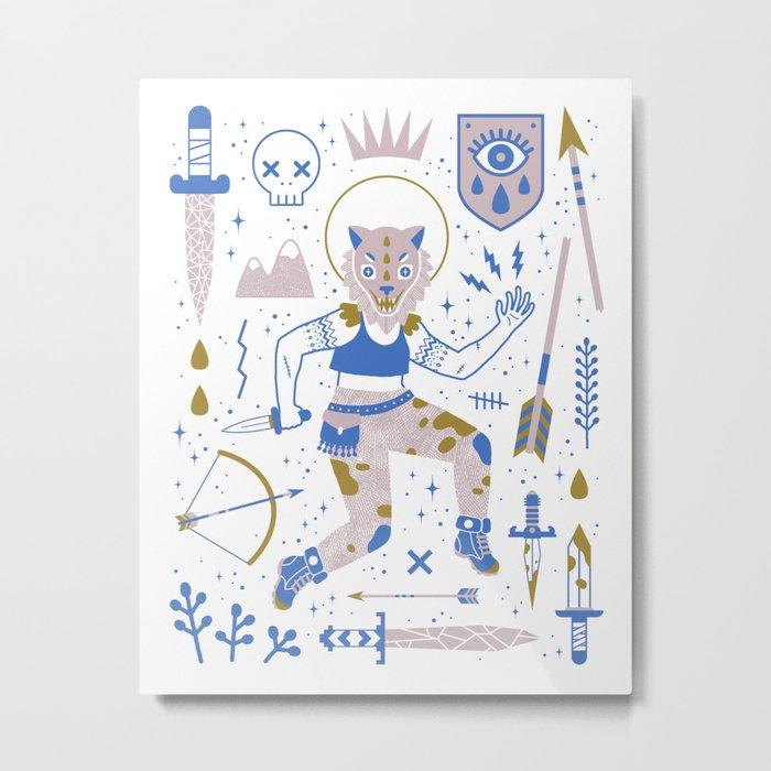 The Warrior Metal Print