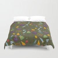 rogue Duvet Covers featuring Rogue Life by Tay Silvey