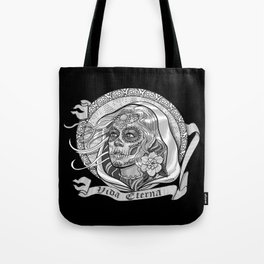 Black and White Catrina (Day of the Dead) Tote Bag