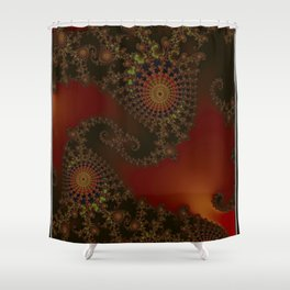 Fiery black modern, Frac Shower Curtain