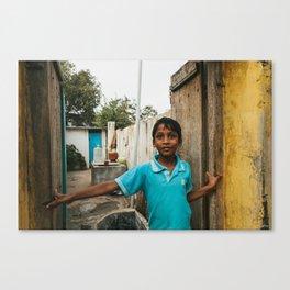 Boy in Peddapuram  Canvas Print