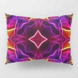 Rainbow Rose Kaleidoscope Mandala Pillow Sham