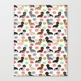 Dachshund weener dog donuts cutest doxie gifts for small dog owners Canvas Print
