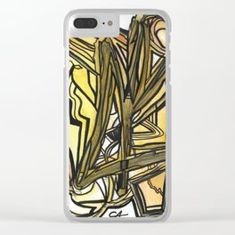Slingshot Abstract Line Art Painting Clear iPhone Case