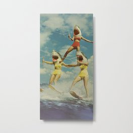 On Evil Beach - Shark Attack Metal Print