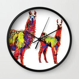 Electric Llamas Wall Clock