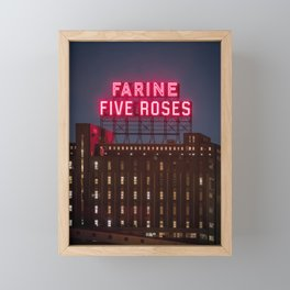 Farine Five Roses Framed Mini Art Print