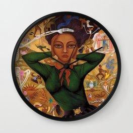 Classical Masterpiece 'Self-Portrait by Rosa Rolanda Wall Clock