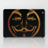 anonymous iPad Cases featuring Anonymous by Spooky Dooky