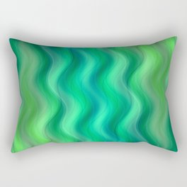 Waves green no. 1 Rectangular Pillow