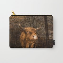 Highland Toffee Coo Carry-All Pouch