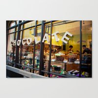 chocolate Canvas Prints featuring chocolate by The Last Sparrow