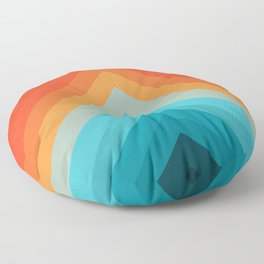 Geometric bands 09 Floor Pillow