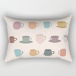 Cups in Colour Rectangular Pillow