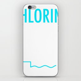 Funny Swimming Gift Chlorine, It's what's for Breakfast iPhone Skin