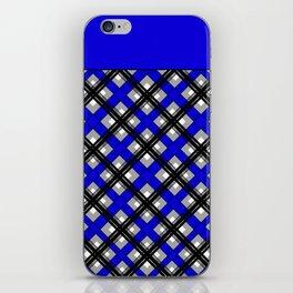 Combo black blue plaid iPhone Skin