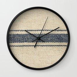 Vintage Farmhouse Grain Sack Edit Wall Clock