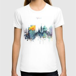 Oakland California Blue  skyline print T-shirt