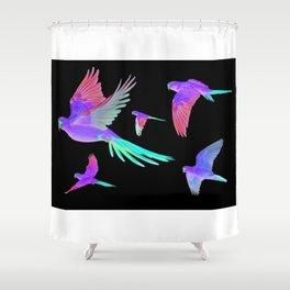 Slender-billed Parakeet (Enicognathus leptorhynchus) Shower Curtain