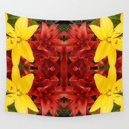 """""""A Gathering of Lilies"""" Remix - 3 (2-1) [D4468~49] Wall Tapestry"""