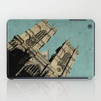 downton abbey iPad Cases featuring Westminster Abbey by sinonelineman