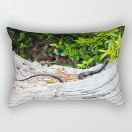 Black Snake In Tree Rectangular Pillow