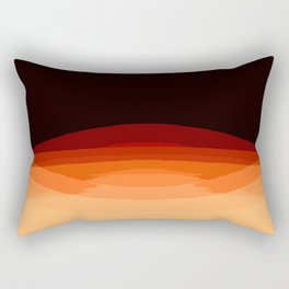 Dark Orange Ombre Rectangular Pillow