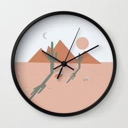 High Desert Shadows Wall Clock