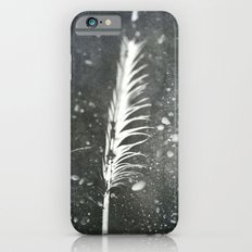 Feather on Black Sand Beach iPhone 6s Slim Case