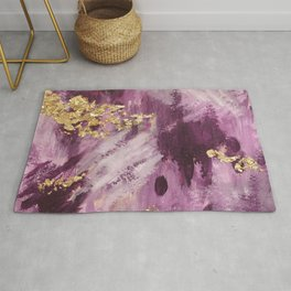 Pink, Purple and Gold Abstract Glam Rug