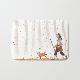 Golden Autumn Bath Mat