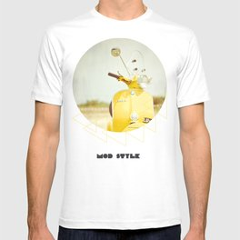 Mod Style in Yellow T-shirt
