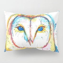 Barn Owl - Watercolor Painting Pillow Sham