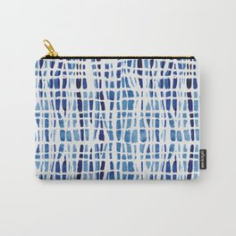Shibori Braid Vivid Indigo Blue and White Carry-All Pouch