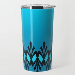 Art Deco Turquoise Pattern Travel Mug