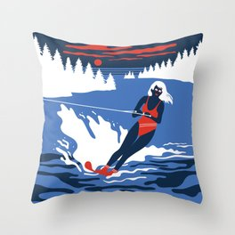 Camp Grindlestone Throw Pillow