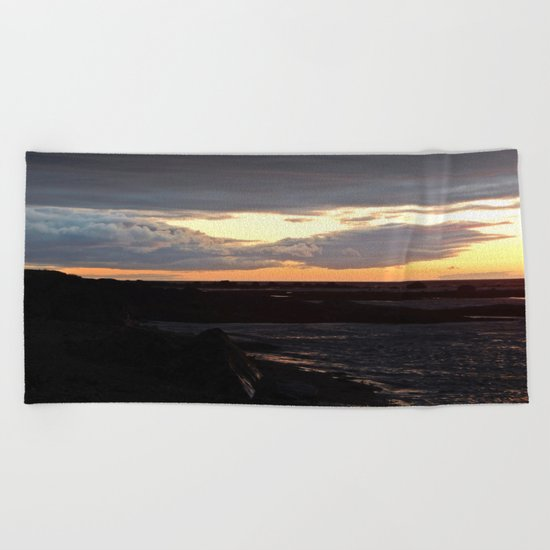 Sunset on the St-Lawrence Beach Towel