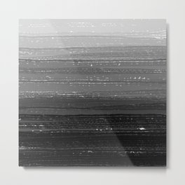 Black and White Paint Gradient Metal Print