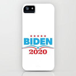 Biden 2020 print - Presidential Campaign product Zip Apparel iPhone Case