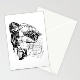 Lady on Cube Stationery Cards
