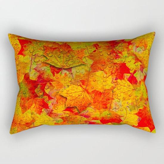 Indian Summer V - Autum Fall Colorful leaves Season #Society6 Rectangular Pillow