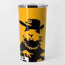 Banksy Gangsta Rat  Travel Mug