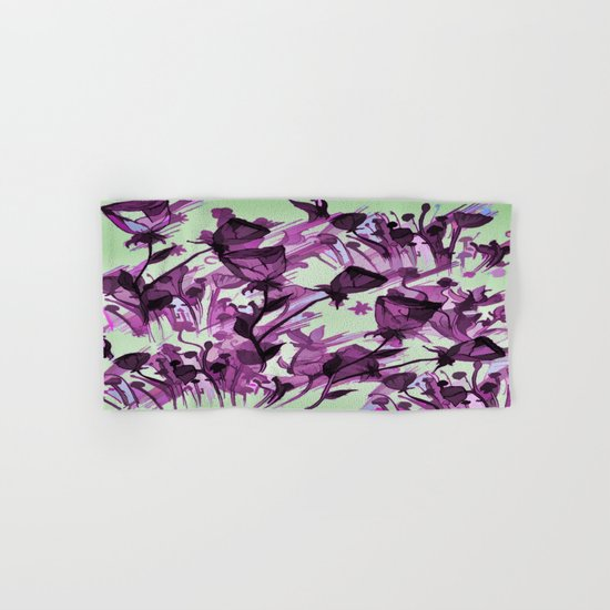 Painterly Graceful Flowing Flowers Hand & Bath Towel