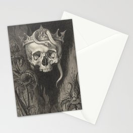 Skull Crowned with Snakes and Flowers, The Duchess of Malfi Stationery Cards